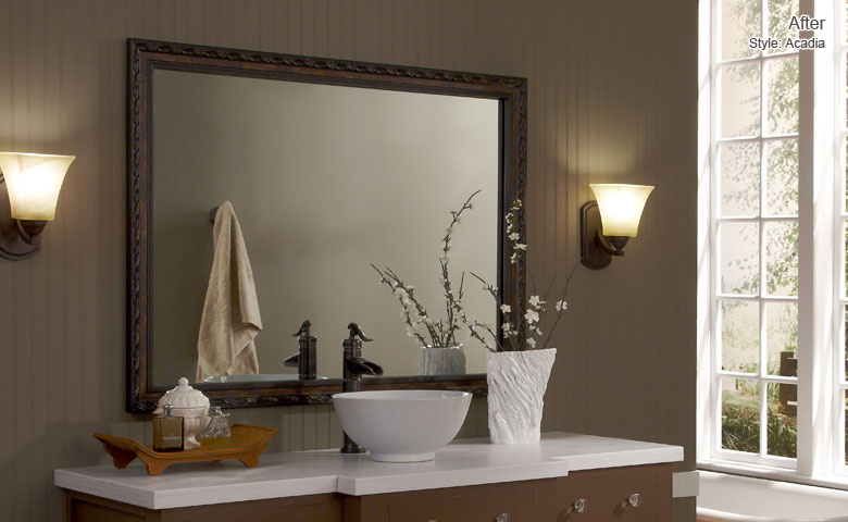 Bathroom Mirrors San Antonio custom bathroom mirror frames. custom framed mirrors. before and