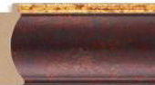 1993   Color= Brown & Gold Lip  Width= 2 3/4""