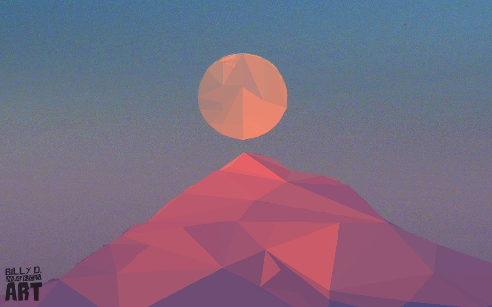 Mt. Hood Low Poly
