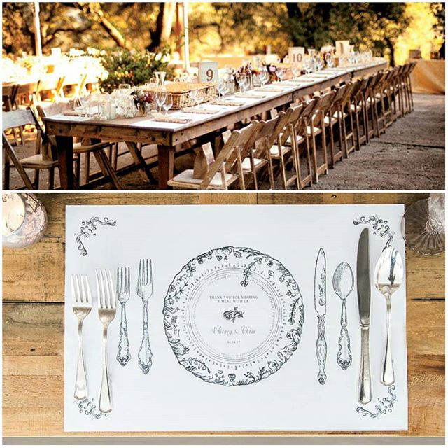 Add an #antique touch to your #celebration with this chic #placemat #table #setting! http://empresspapercrafts.weddingstar.com/product/antique-chic-personalized-paper-place-mat-table-setting