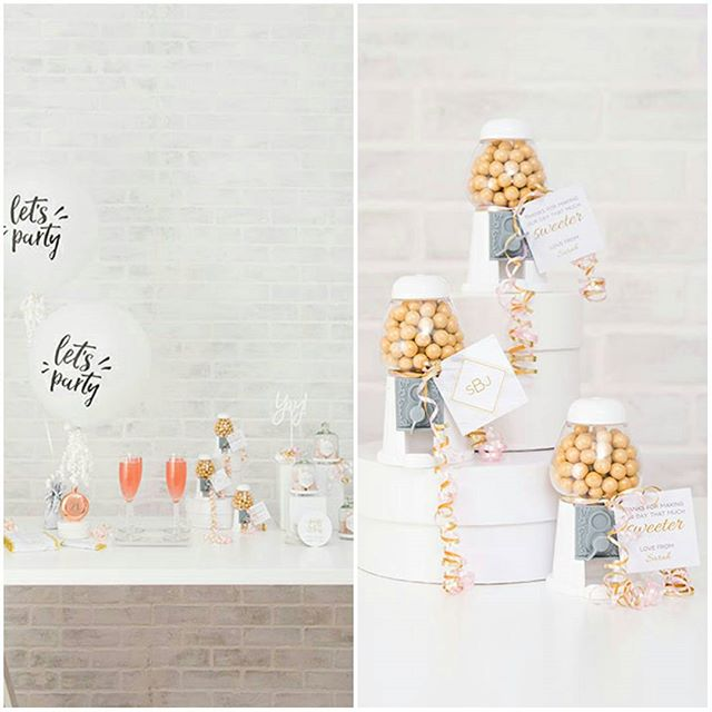 How #adorable are these #gumball machine #favours? Fill with your favourite #sweets and thank your guests with this #fun idea! http://empresspapercrafts.weddingstar.com/product/empty-classic-white-gumball-machine