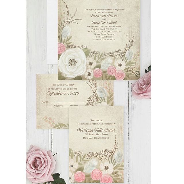 Add a touch of #boho #elegance to your #wedding scene with this #romantic #bohemian bloom #invitation! http://empresspapercrafts.carlsoncraft.com/Wedding/Wedding-Invitations/3254-TWS40743-Boho-Breeze--Invitation.pro
