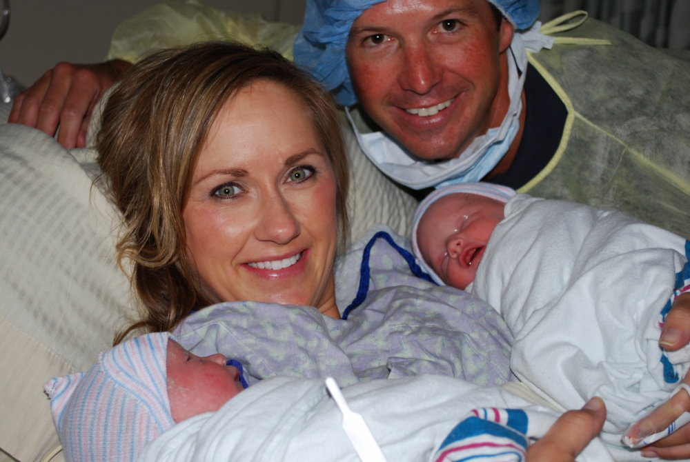 Cooper and Riley's birth at Sacred Heart Hospital in Destin, Florida. -Circa 2011