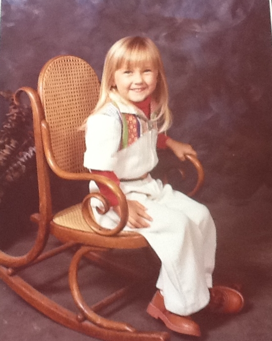 Rocking the jumpsuit at age four - Circa 1980.