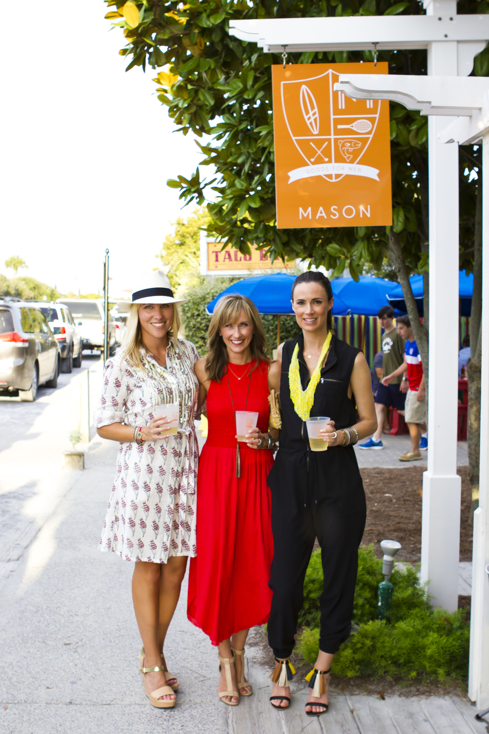 (L to R) Cindy Krutz (co-owner), me & Celia Tucker (co-owner).  We are all wearing apparel and heels from  Willow .