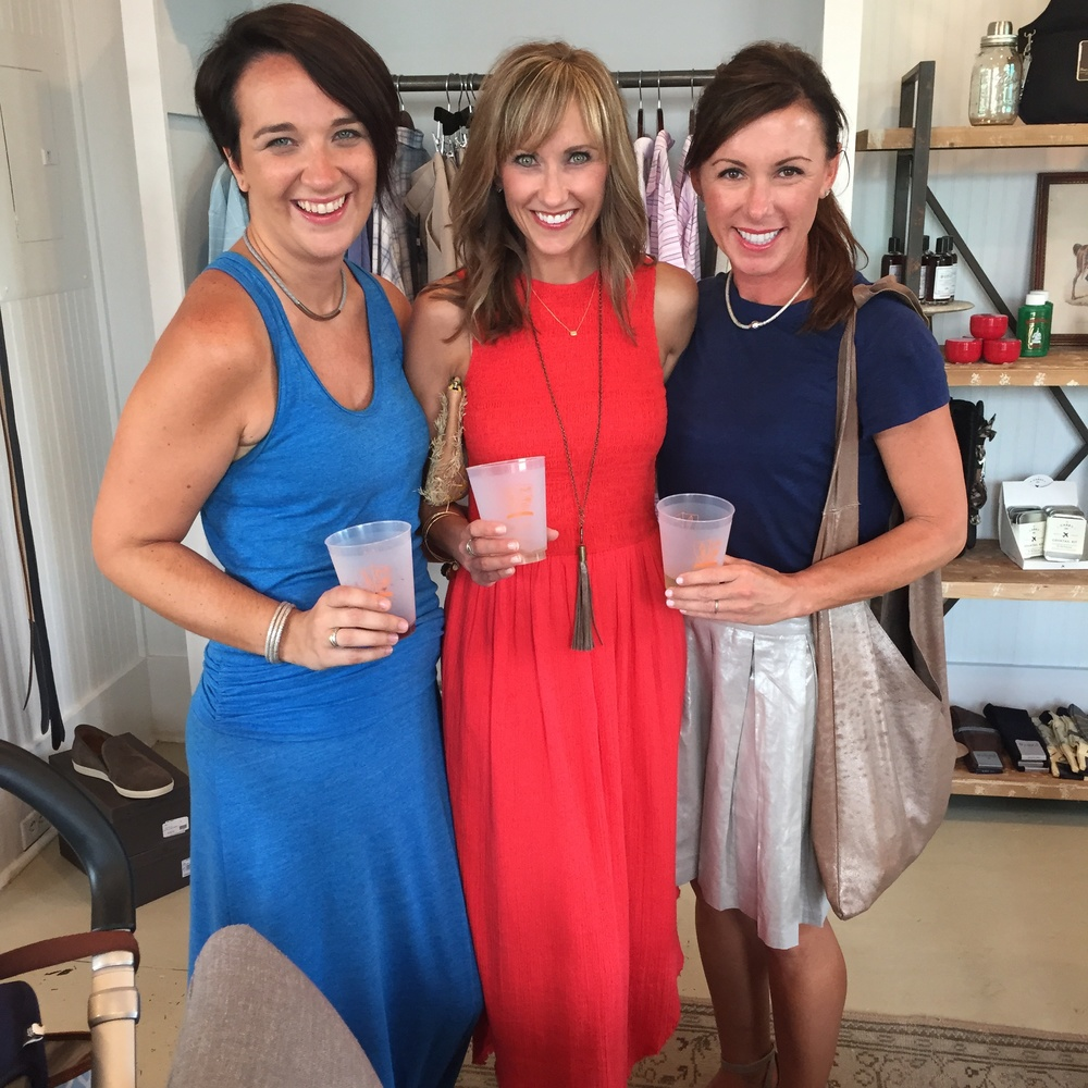 (L to R) Megan Trent (Brand Manager for Coastal Road), me & Christie Casillo (Designer & Founder of Coastal Road).  I'm wearing my  Metallic Bolinas Leather tassel necklace  by Coastal Road.