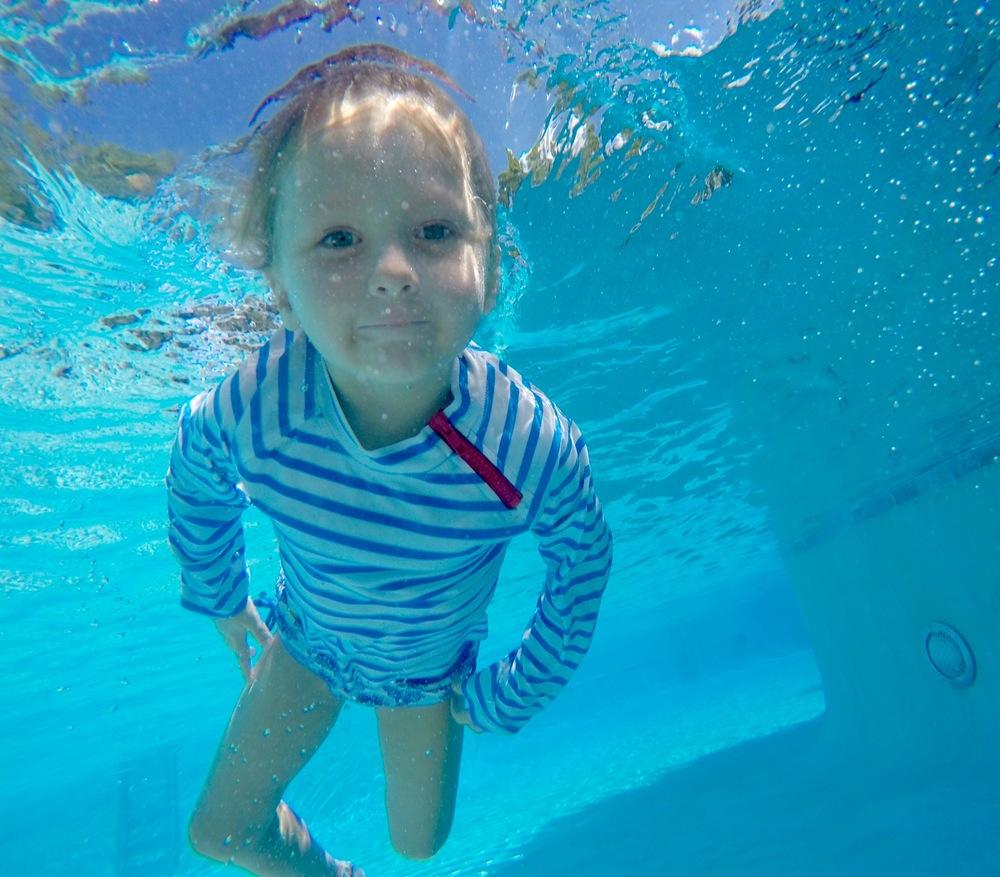Riley swimming