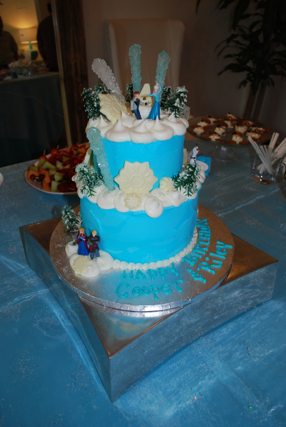 Frozen cake by  Sweet Henriettas  in Santa Rosa Beach.   She is THE BEST cake, cupcake, cakepop, etc. LOCAL vendor we have in Santa Rosa Beach (my own humble opinion)