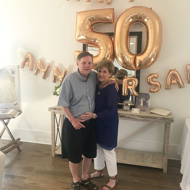 Celebrated my sweet parents ✨G•O•L•D•E•N✨  50th Wedding Anniversary this weekend with my entire family!! It's a very special thing for your parents to have been married 50 years.... and still like each, be in love and still love to dance! 🕺🏼❤️ I'm beyond grateful for the life lessons they have taught me: keep God as your center, love your neighbors as yourself, trust people, show compassion, communicate well, be sweet & kind, have fun & travel lots!! Thank you to @mingle30a  for making our celebration very festive!! 🎈💕🎈#50yearsofmarriage #lovebirds #itainteasy #stayreal #commitment #lovethesepeople #wardrobemadesimple