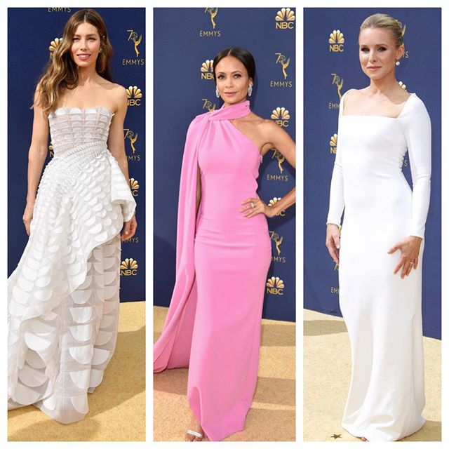 A few of my favs from the Emmys last night!  #beauties #jessicabiel #stunning #emmys2018