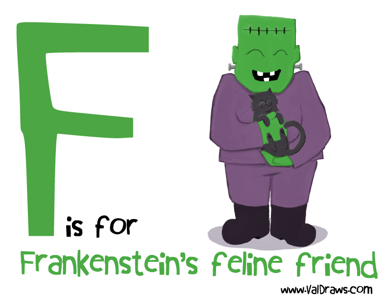 F-is-for-Frankenstein's-feline-friend