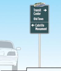 Midway-Pacific Hwy. vehicle directional