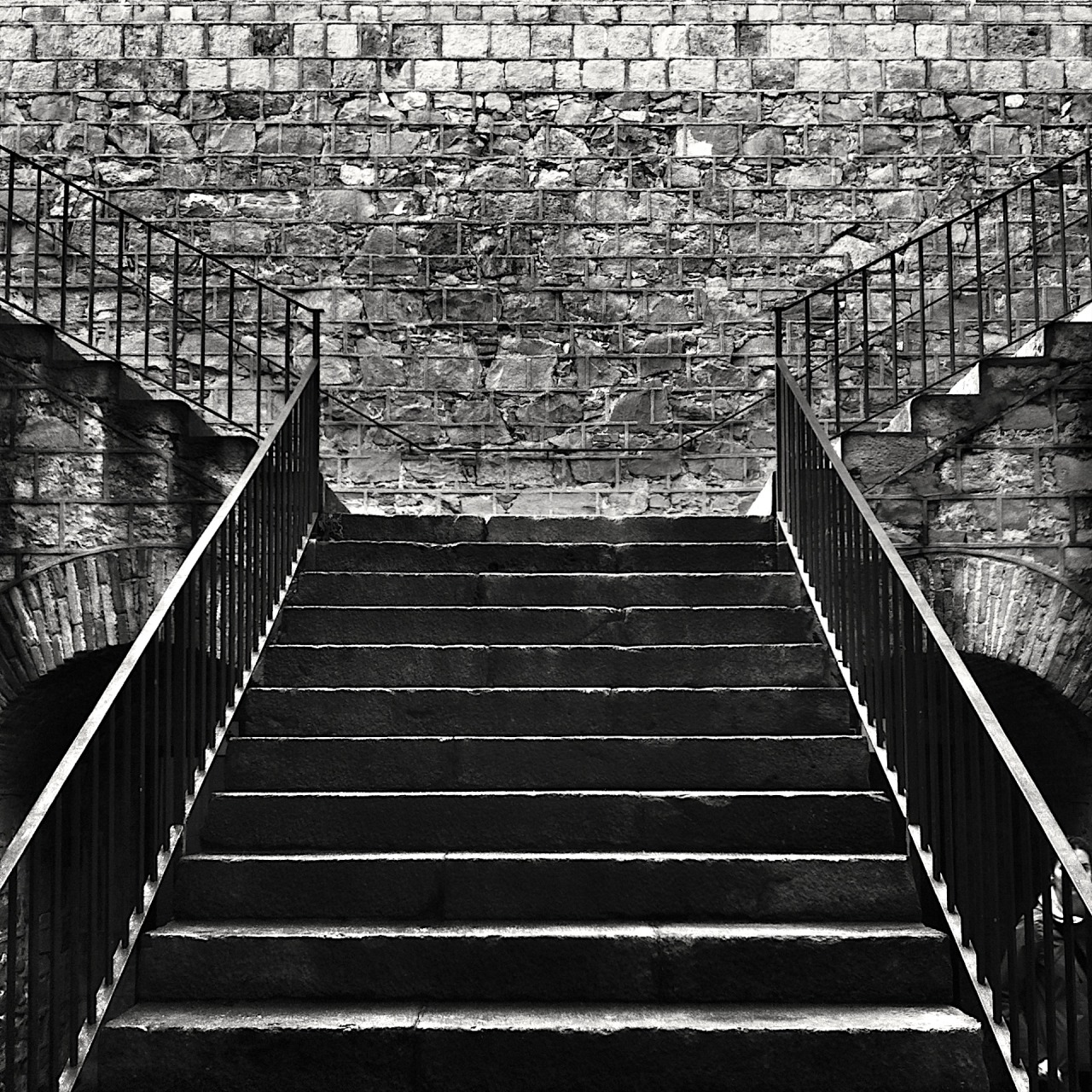 Black and White photo of stairway