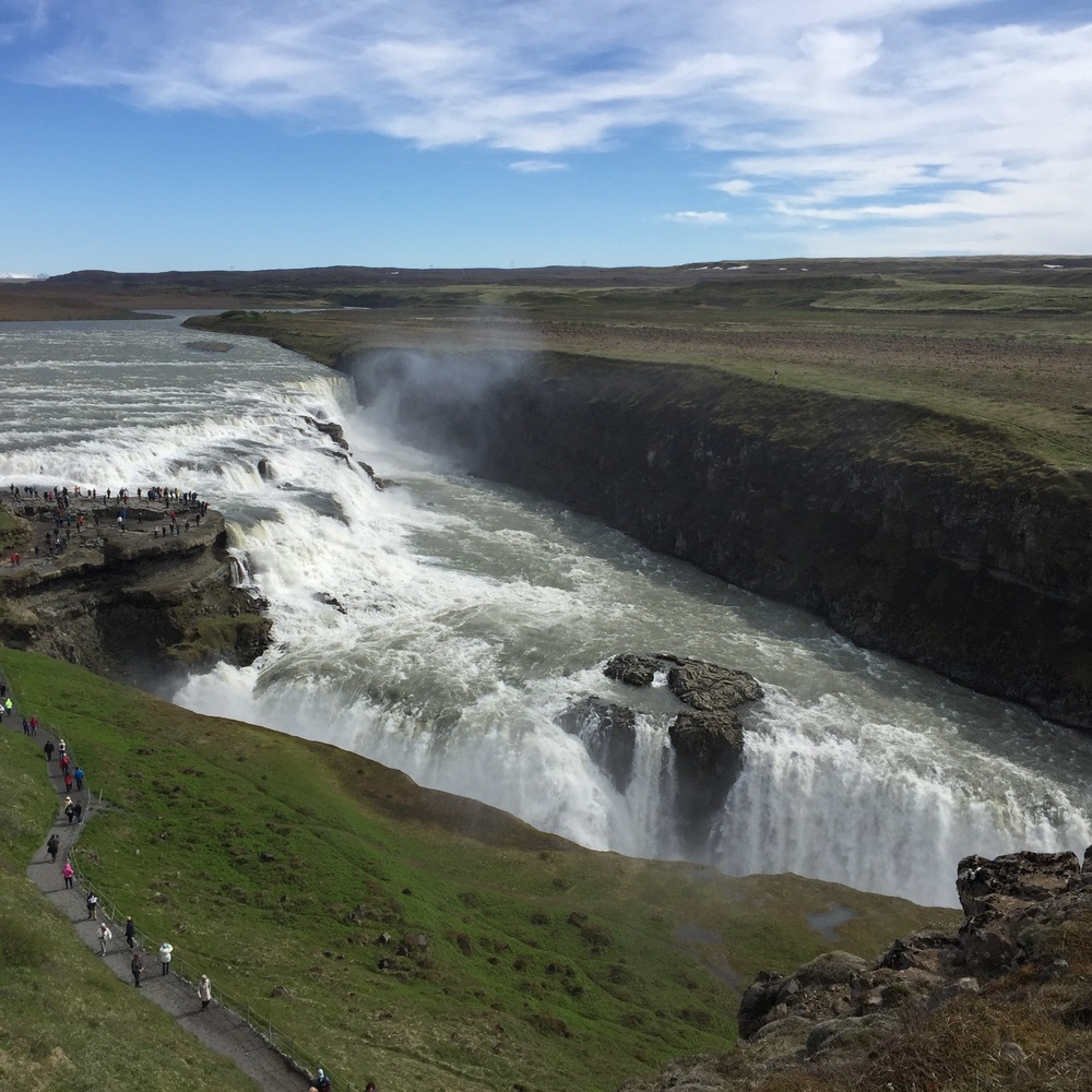 Gulfoss waterfall in Iceland without the Moment Wide Lens