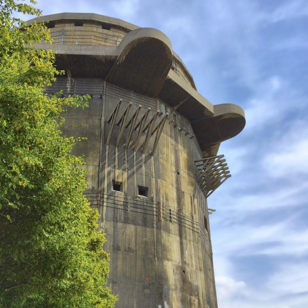 Sturdy Remains; Flak tower in Augarten park Vienna; (cc) by-nc Chris Feichtner