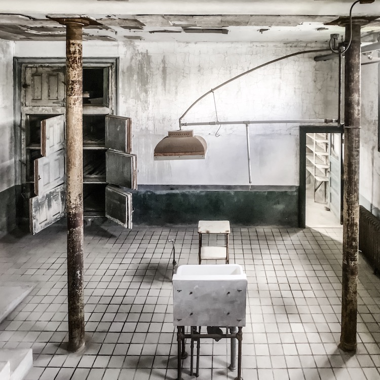 Autopsy room at the abandoned Immigrant Hospital at Ellis Island