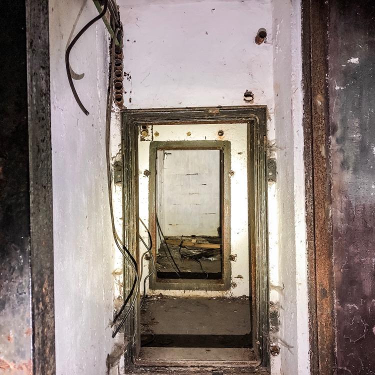 Inside a a bunker at Devinska Kobyla