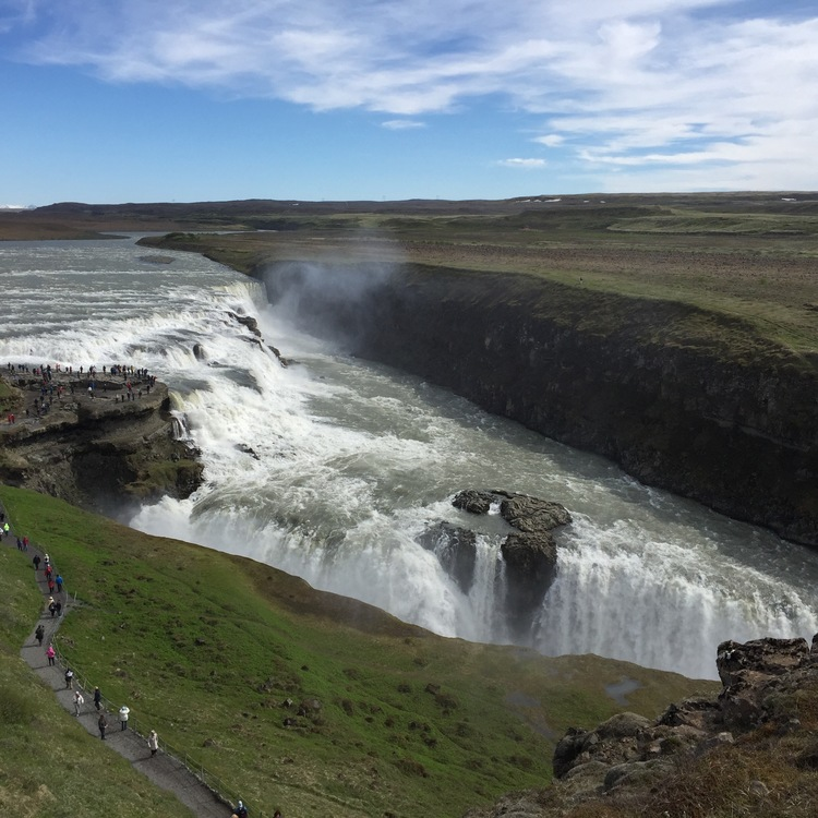 Gulfoss waterfall in Iceland photography without Moment Wide Angle Lens