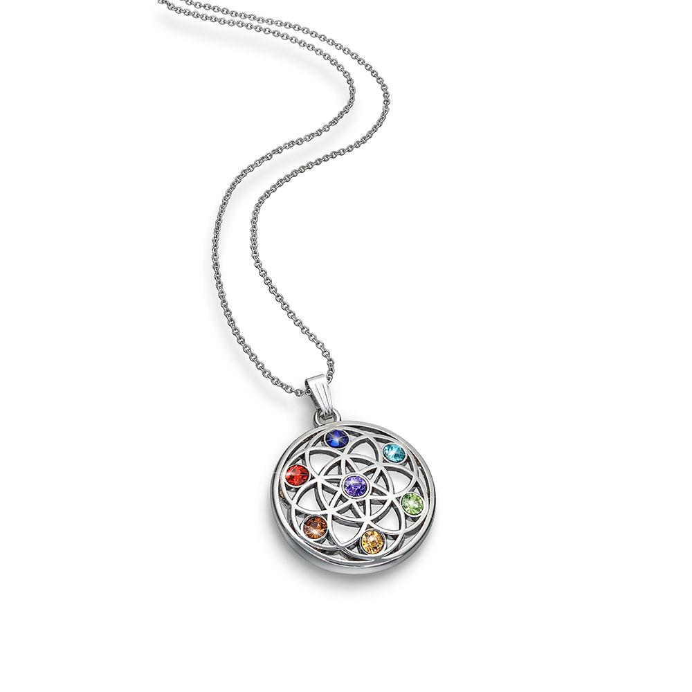 Chakra pendant necklace the gem seller chakra pendant necklace mozeypictures Choice Image