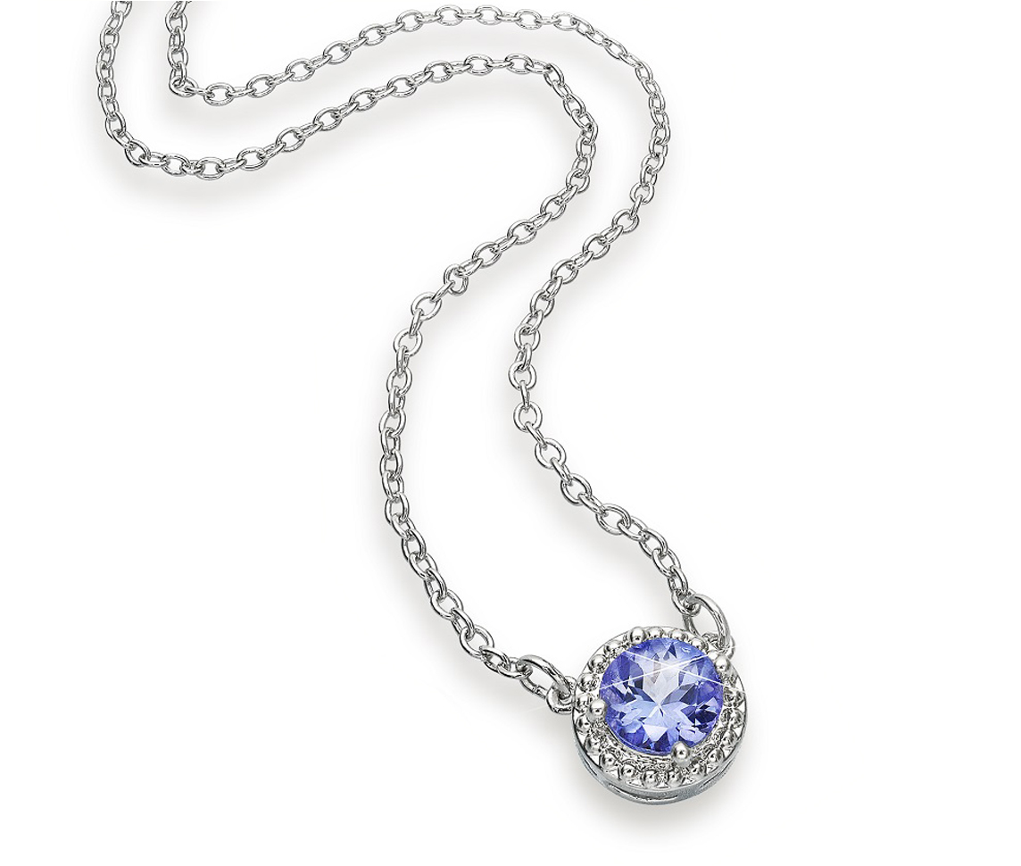 impulse collection tanzanite pendant diamond necklace pink and gold in kt