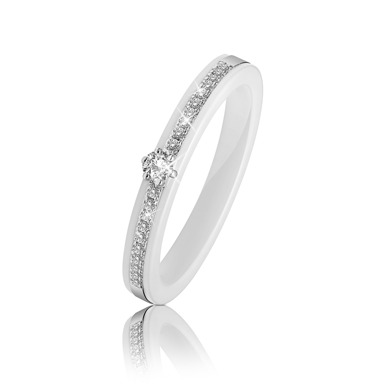 engagement demeglio ring jewelry ceramic white roberto rings diamond