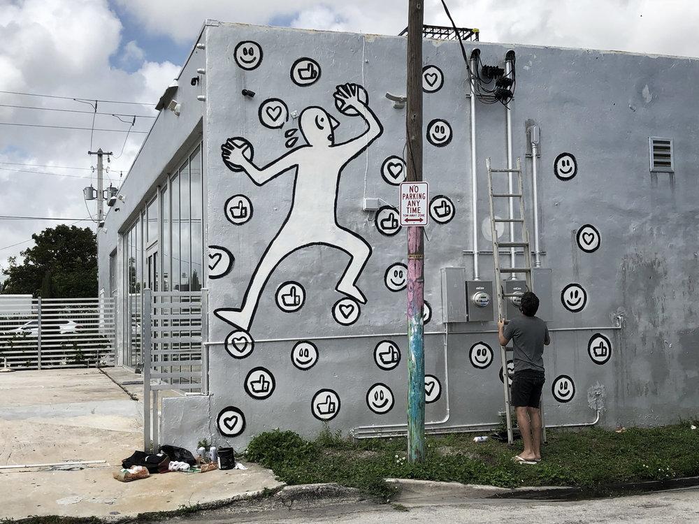 """Social Climbing"", Wynwood, Miami, 2018"