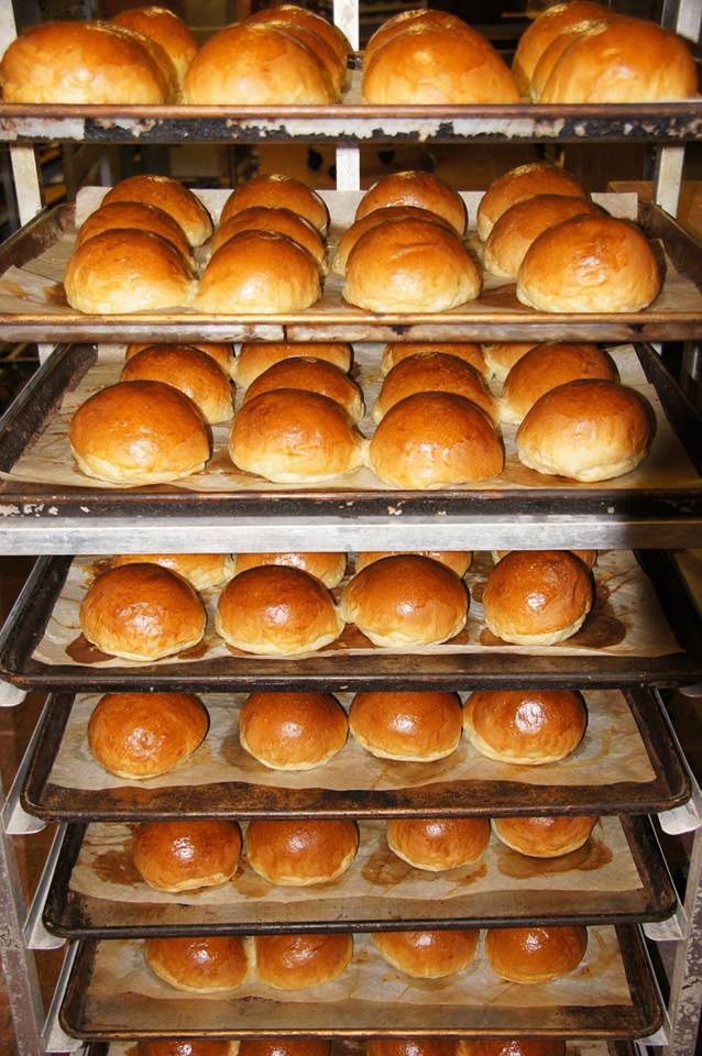 We source our baguette hoagies for our Banh Mi sandwiches andall of our delicious butterybuns for burgers, brats, and some of our sandwiches from Arkansas Fresh Bakery.