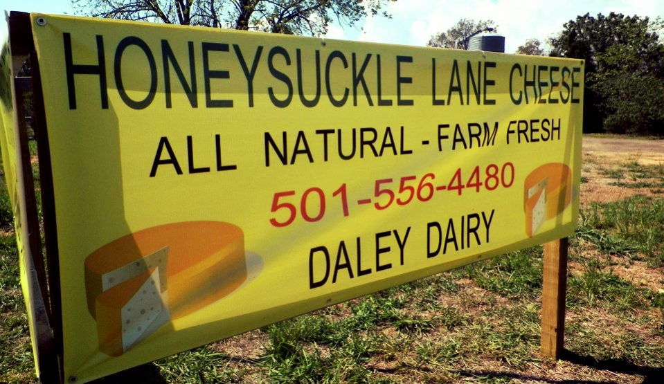 We source all of our cheddar cheese for our cheeseburgers, sausage, egg, & cheese biscuits, and other cheesy treats from Honeysuckle Lane.