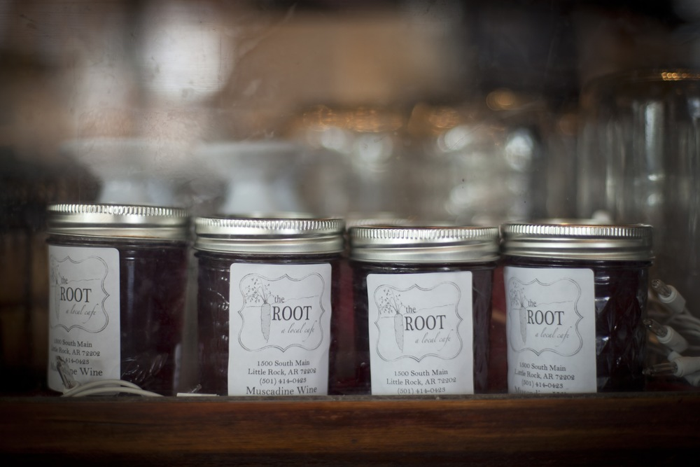 Our yummy muscadine wine jelly is made with muscadine wine from Post Familie Vineyards.