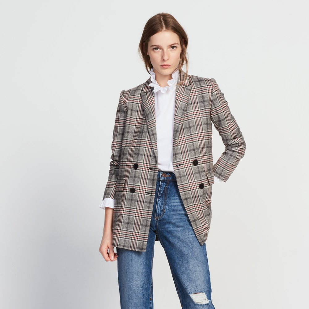 Sandro Double Breasted Wool-Blend Jacket $663.47