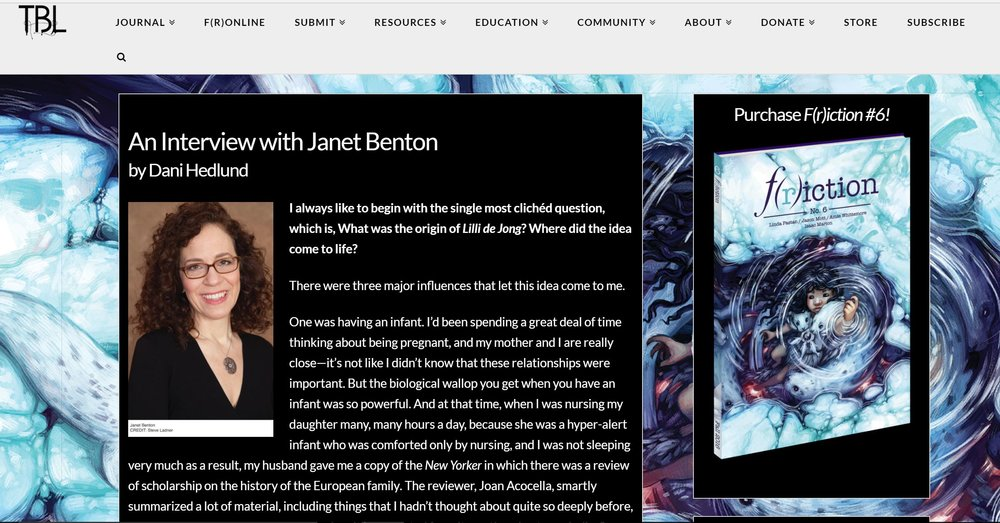F(r)iction interview  by Dani Hedlund -