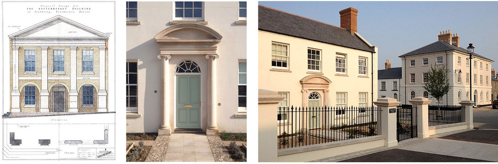 NEW BUILDINGS  DESIGNED BY GEORGE  AT POUNDBURY, DORSET