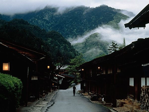 The Nakasendo Highway, National Geographic Stock