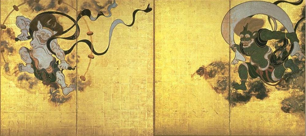 Fujin Raijin-zu , Tawaraya Sotatsu