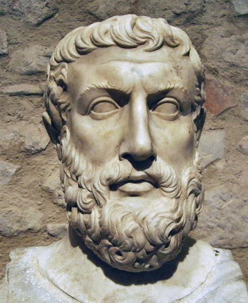 PARMENIDES, ANCIENT SCULPTURE