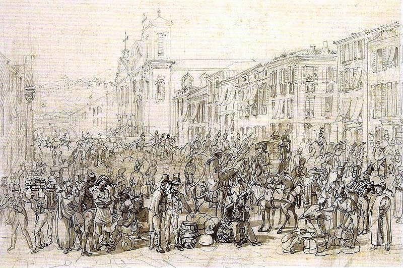 drawing of RIO DE JANEIRO, early 19th century