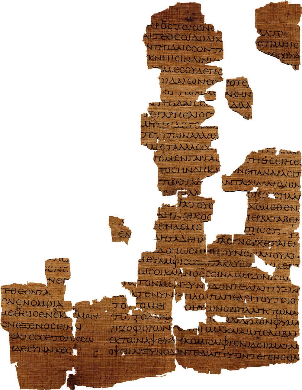 1ST CENTURY AD PAPYRUS CONTAINING FRAGMENTS OF EMPEDOCLES' POEM  ON NATURE