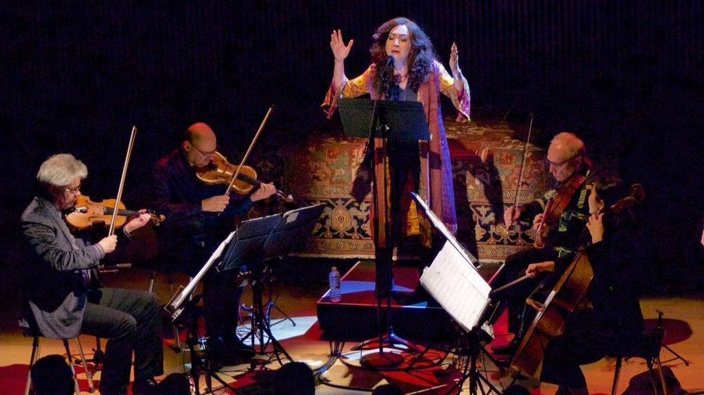 Mahsa with Kronos Quartet