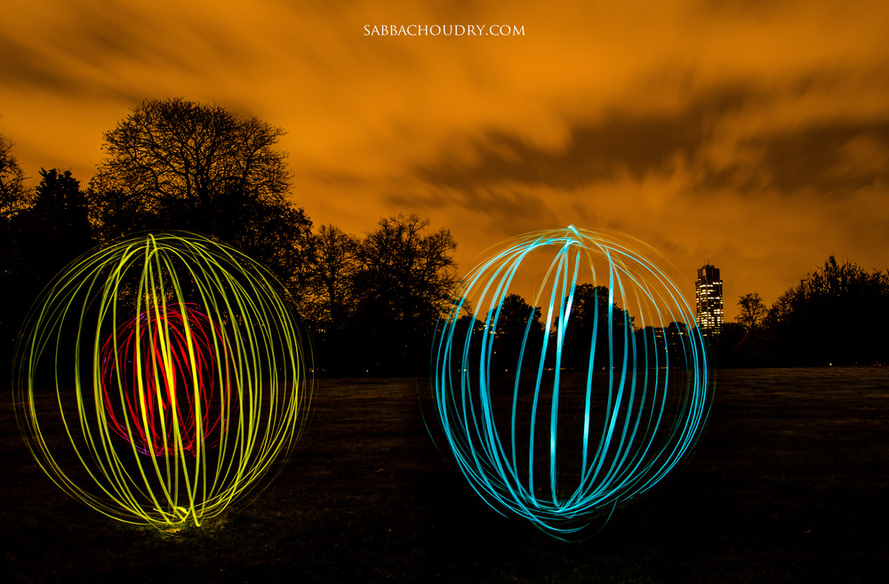 Light orbs, Hyde Park, London, UK