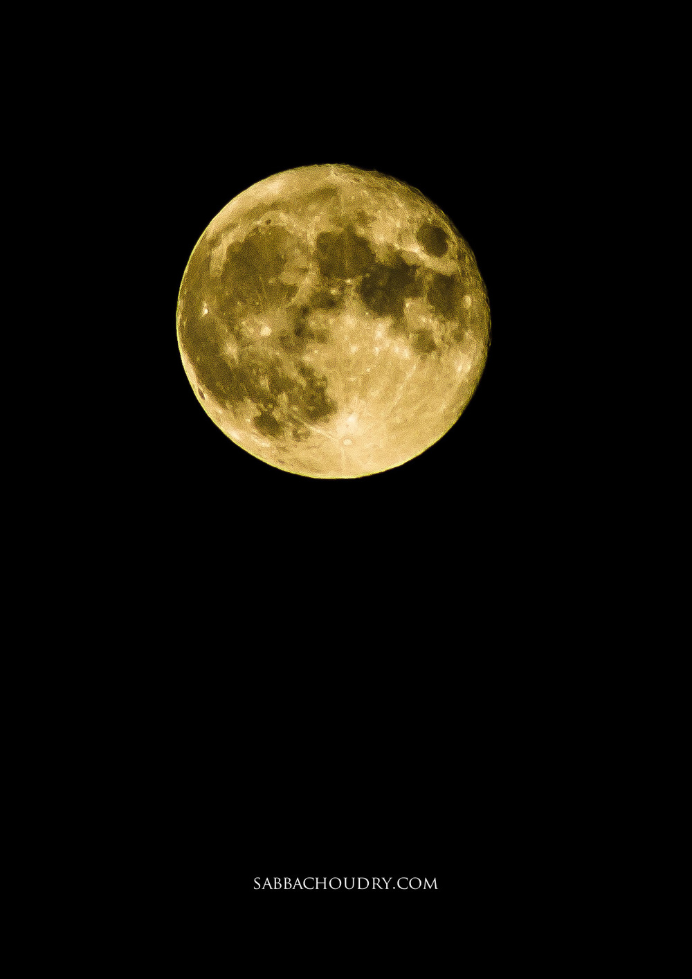 Full moon 7th November 2014, London, UK
