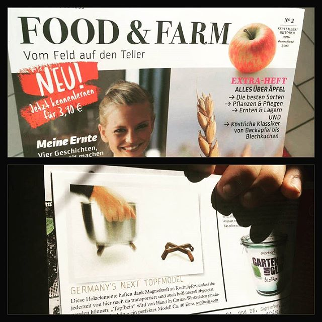 """Germany's next topmodel"" - TOPFBEIN in der aktuellen Food & Farm -  www.topfbein.com #topfbein #idea #gift #giftidea #design #urban #etsy #dawanda #vintage #food #yum #instafood #yummy #amazing #photooftheday #dawanda_de #dinner #lunch #breakfast #etsyfinds #tasty #etsyfinds #simple #foodblog #foodpic #foodpics #kitchen #tool #foodgasm #hot"