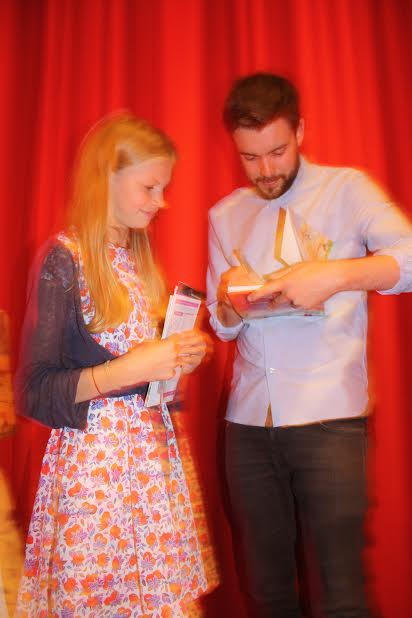 Over-all Winner Kitty Hafenrichter with Jack Whitehall