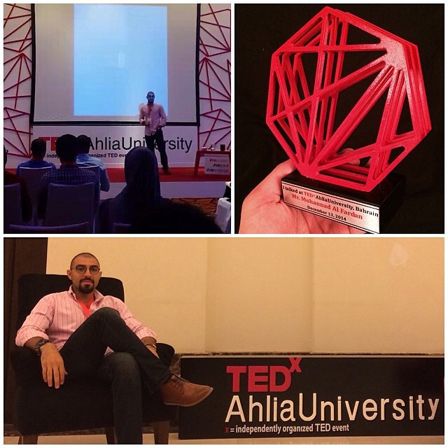 #repost #tedxahliauniversity Speaker @mohannad_alfardan #re #bahrain Thank you for your valuable contribution!