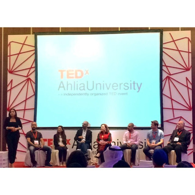 #tedxahliauniversity event host along with our speakers shared their experience preparing for a #TEDx event - a lot of hard work and countless rehearsals to get those #ideasworthspreading out there!