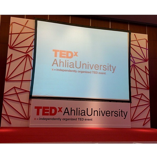 The stage set-up. Photo by @a7madev thank you for sharing! #tedxahliauniversity