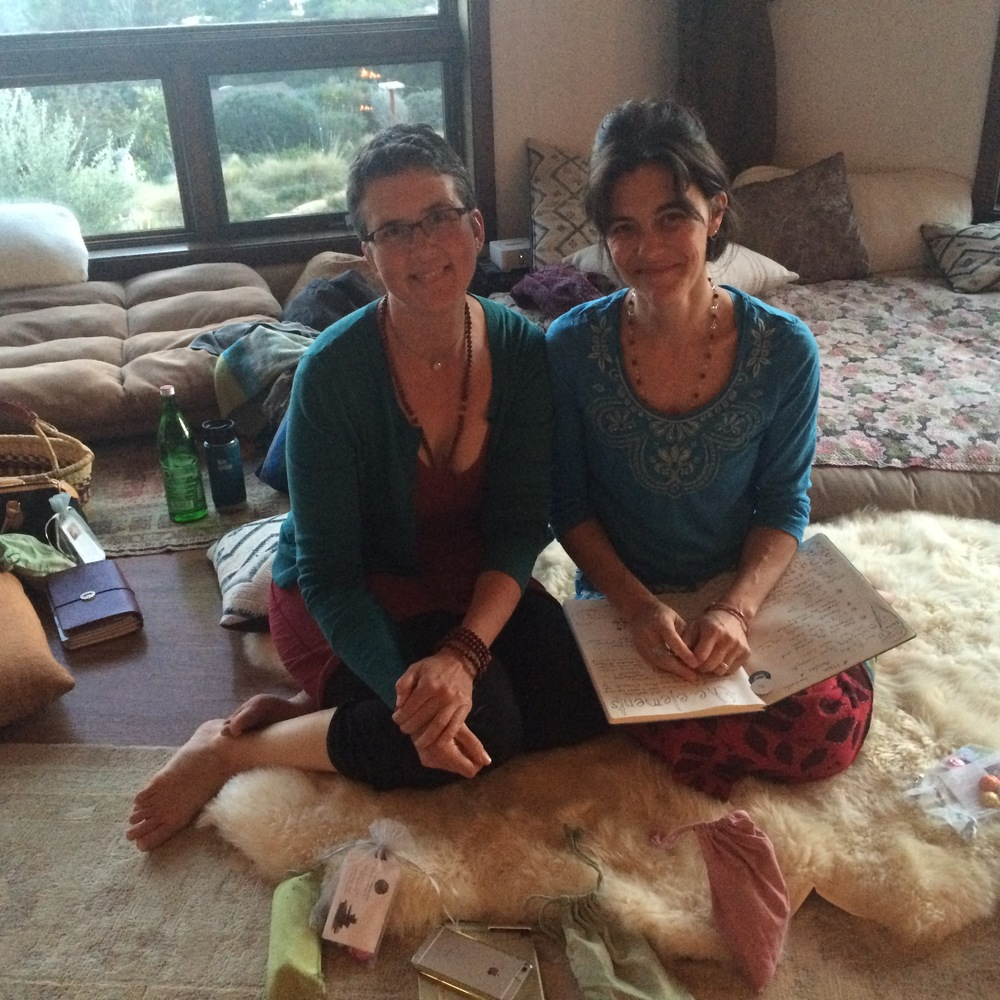 Our lunar mystics, Kristina @musingmama & April @themoonismycalendar. Keepers of The Lunar Womb.