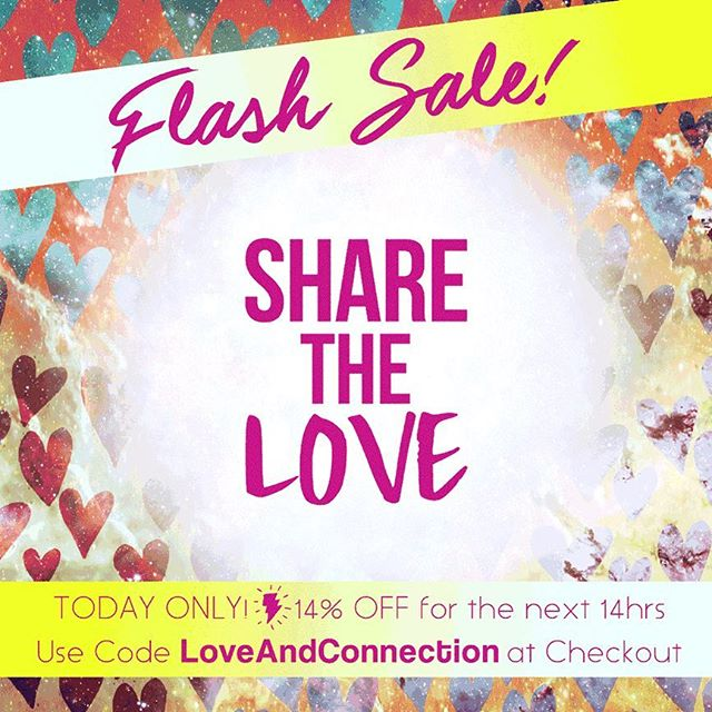"""Happy #Valentines Day! We ❤️ YOU! To show our #LOVE and appreciation use #promocode """"LOVEANDCONNECTION"""" for 14% off for the next 14 hours! Link to shop in bio! #XoXo 💋"""