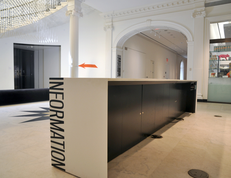 Information Desk Design museum of the city of new york - welcome desk — mpd design build
