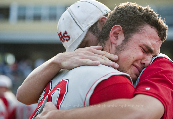 Neshannock's Brandon Scheidemantle reacts after his team's victory over Neumann-Goretti in during the PIAA Class AA baseball title game at Penn State's Medlar Field at Lubano Park on Friday, June 12, 2015. Neshannock won 9-0.