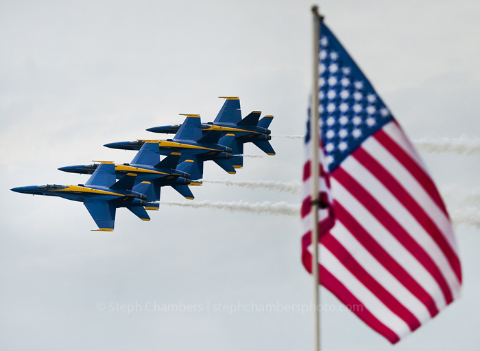 The Navy's elite Blue Angels fly wing-to-wing during a display of their skills on the first day of the Westmoreland County Air Show at the Arnold Palmer Regional Airport near Latrobe on Saturday, June 20, 2015. The expected storms held off for their performance.